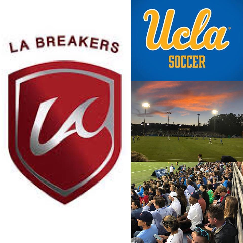 LA Breakers FC helped UCLA Mens Soccer open the Wallis Annenberg Stadium