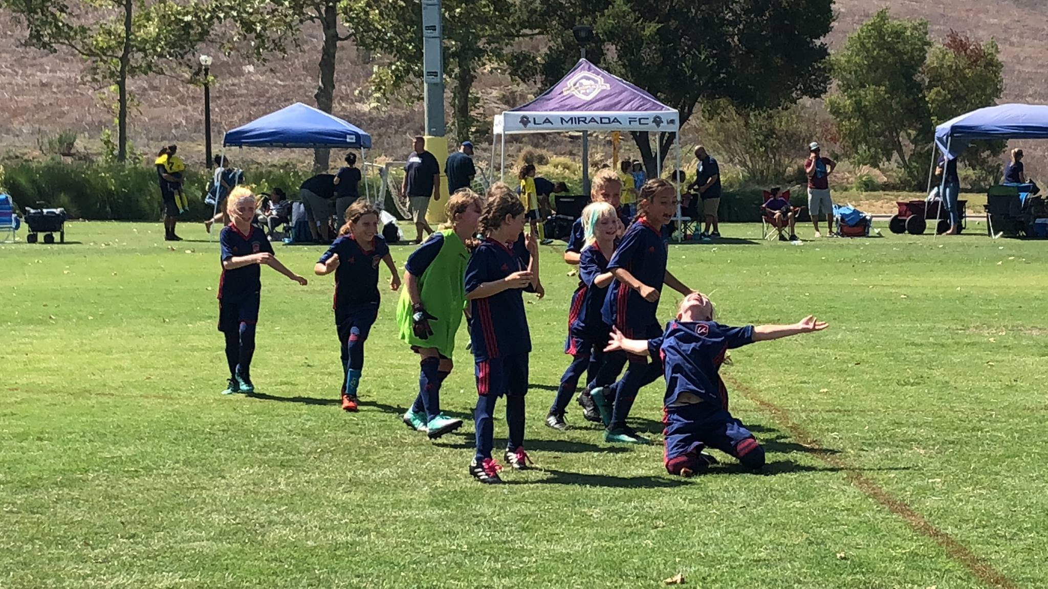 LA Breakers G2010 celebrate a win in PKs in the OC Kick-off Classic